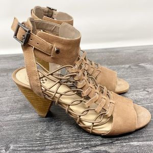 Vince Camuto brown leather Sandals heels